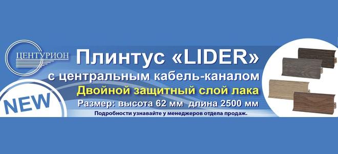 плинтус Lider